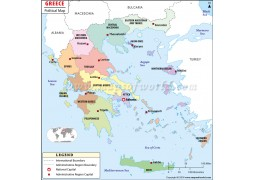Political Map of Greece - Digital File