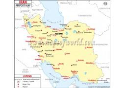 Iran Airports Map