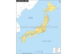 Japan Rail Map - Digital File