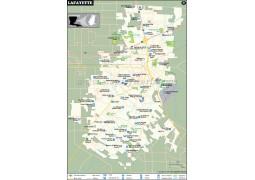 Lafayette City Map