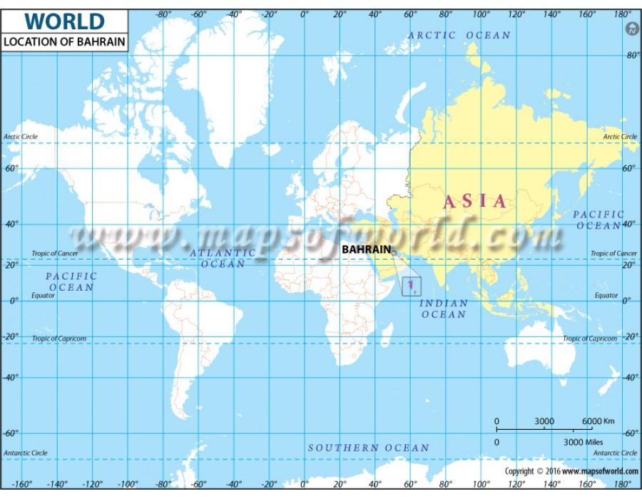 Buy Bahrain Location Map