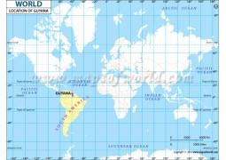 Guyana Location Map - Digital File
