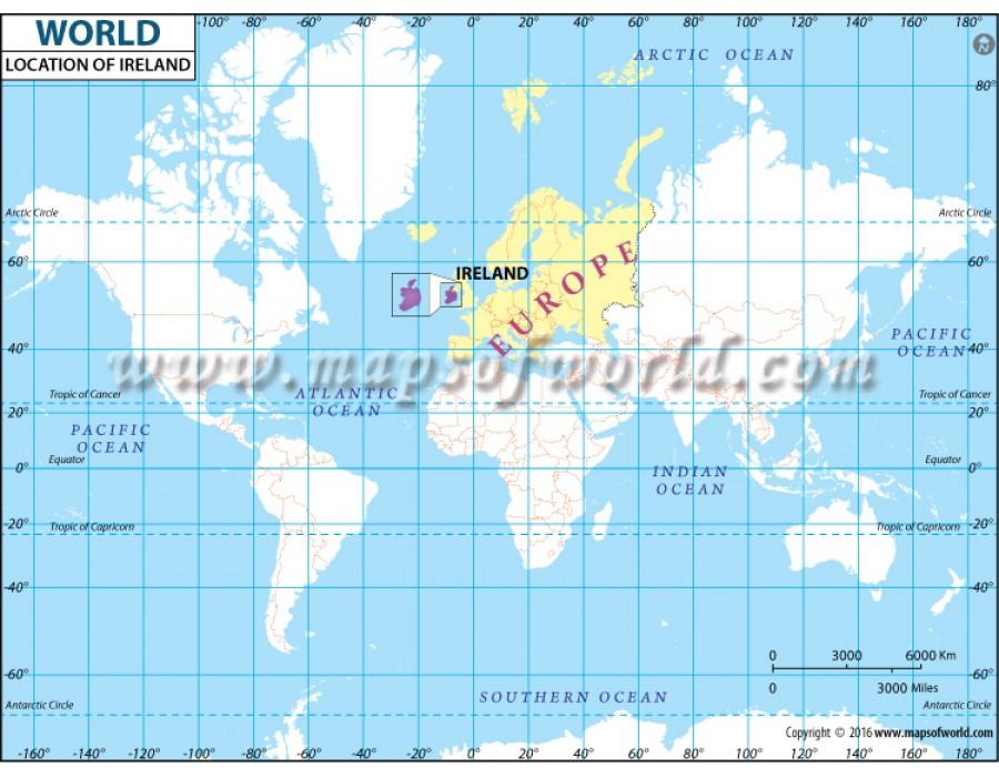 Buy Ireland Location on World Map