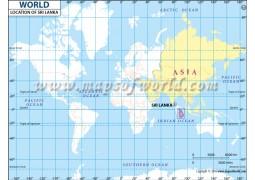 Sri Lanka Location Map - Digital File