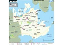 Manama Map - Digital File