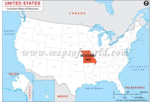 Missouri Location Map