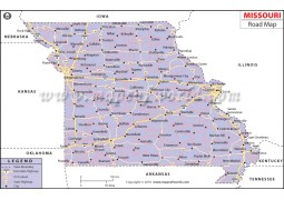 Missouri Road Map - Digital File