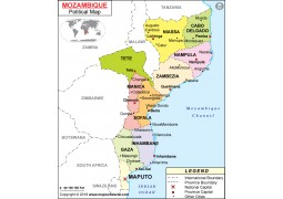 Political Map of Mozambique - Digital File