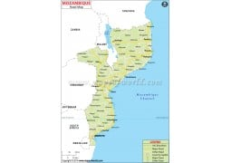 Mozambique Road Map - Digital File