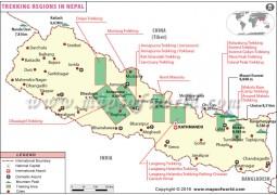 Nepal Trekking Map - Digital File