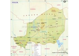 Niger Map - Digital File