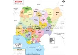 Nigeria Political Map - Digital File