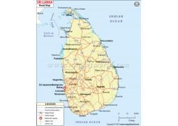 Sri Lanka Road Map - Digital File