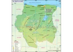 Suriname Map - Digital File