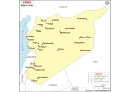 Syria Map with Cities - Digital File