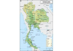 Thailand Latitude and Longitude Map - Digital File
