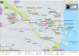 Valencia City Map - Digital File