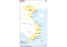 Vietnam Cities Map - Digital File