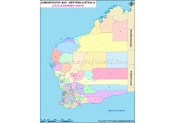 Western Australia Local Government Areas Map