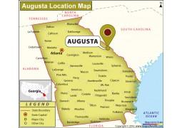 Location Map of Augusta, Georgia - Digital File