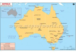Australia Airports Map - Digital File