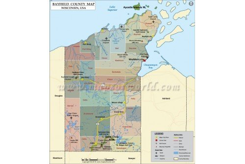 Bayfield County Map