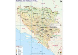 Bosnia Map - Digital File
