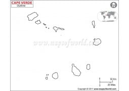 Cape Verde Outline Map