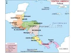 Map of Central America - Digital File