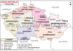 Political Map of Czech Republic
