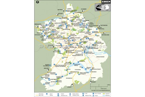 Essen City Map