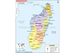 Madagascar Political Map
