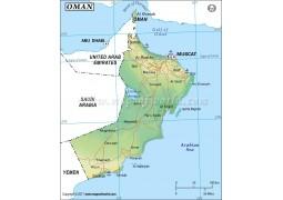 Oman Map - Digital File