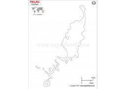 Palau Outline Map - Digital File