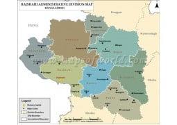 Rajshahi Division Map, Bangladesh - Digital File