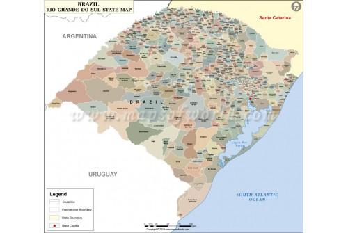 Rio Grande do Sul Map