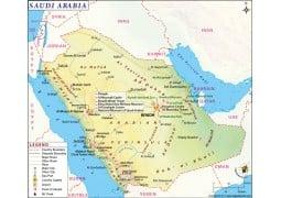 Saudi Arabia Map - Digital File