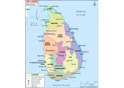 Sri Lanka Political Map - Digital File