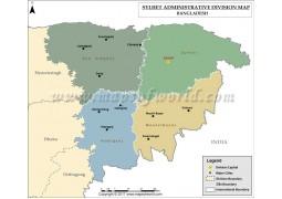 Sylhet Division Map