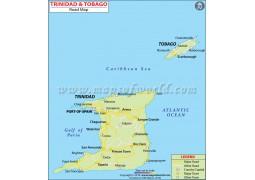 Road Map of Trinidad and Tobago