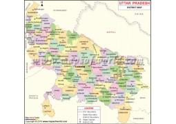 Uttar Pradesh District Map
