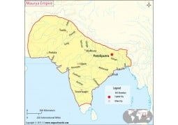 Maurya Empire Map - Digital File