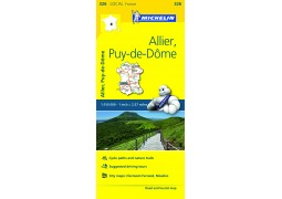 FRANCE ALLIER PUY DE DOME MAP 326