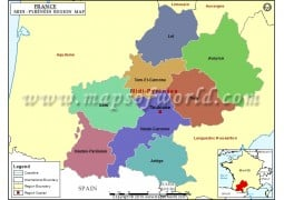 Midi-Pyrénées Map - Digital File