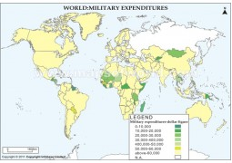 World Military Expenditures Map - Digital File