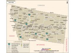 Montana State Map - Digital File