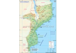 Mozambique Map - Digital File