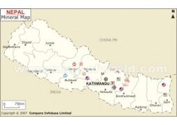 Nepal Mineral Map - Digital File