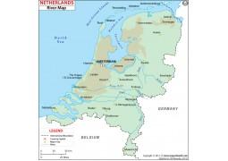 Netherlands River Map - Digital File