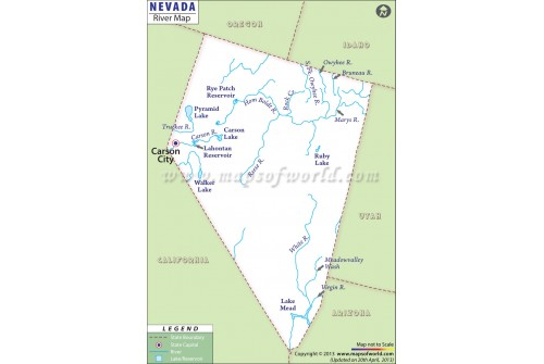 Nevada River Map